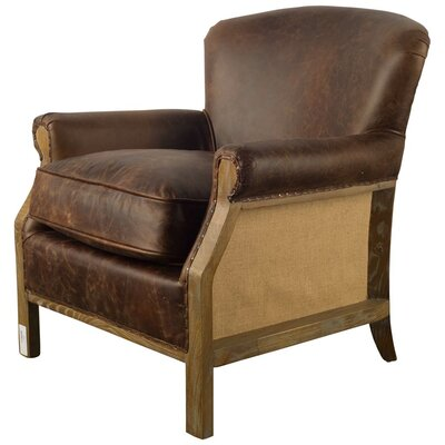Tanner Club Chair Upholstery: Dark Chocolate