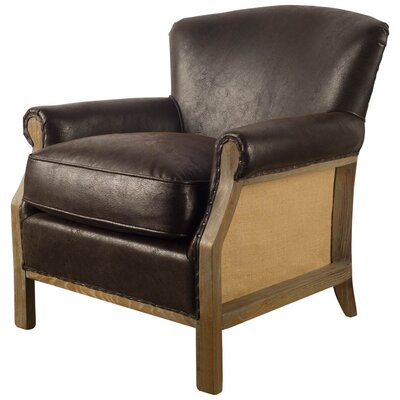 Tanner Club Chair Upholstery: Brown
