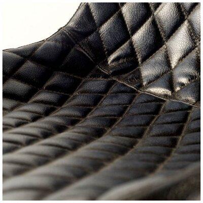 Kyra Side Chair Upholstery: Black