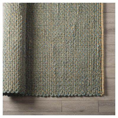 Hillside Hand-Woven Green Area Rug