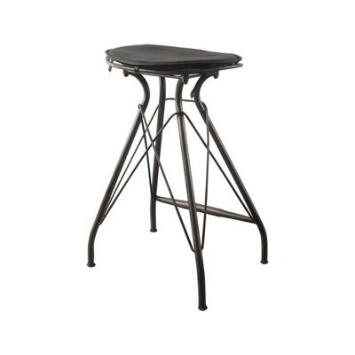 Mahesh 31 Bar Stool with Cushion Finish: Black, Upholstery: Black