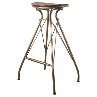 Mahesh 31 Bar Stool with Cushion Finish: Brown, Upholstery: Brown