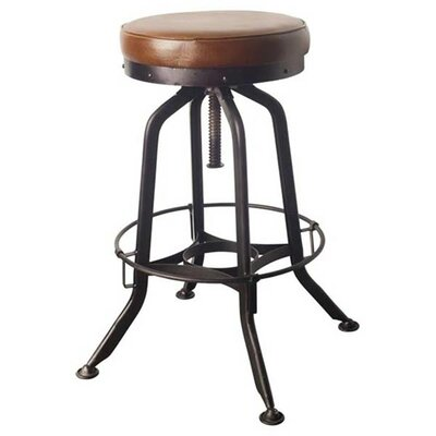 Salazar 28 Swivel Bar Stool Upholstery: Brown