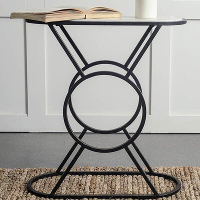 Sherise End Table Finish: Black