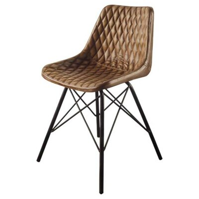 Kyra Side Chair Upholstery: Black