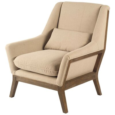Bechtel Armchair Color: Brown