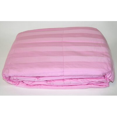 300 Thread Count All Natural Down Alternative 100% Cotton Filled Throw Color: Dark Pink
