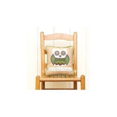 Owl Be Home For Christmas Pillow