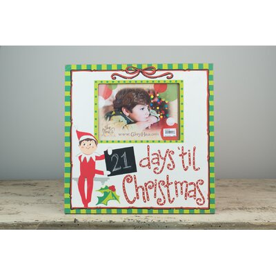 Elf Days Til Christmas Picture Frame