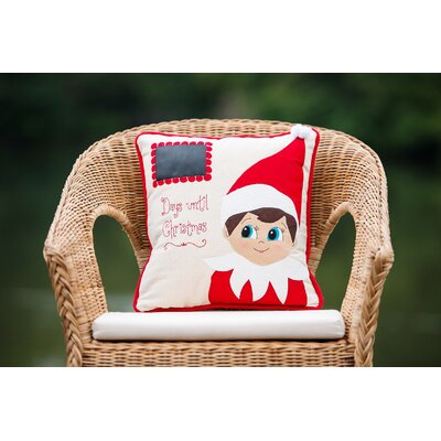 Elf Days Til Christmas Outdoor Throw Pillow