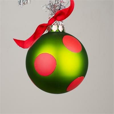 Christmas Dog Glass Ornament