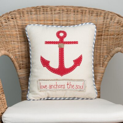 Love Anchors The Soul 100% Cotton Throw Pillow