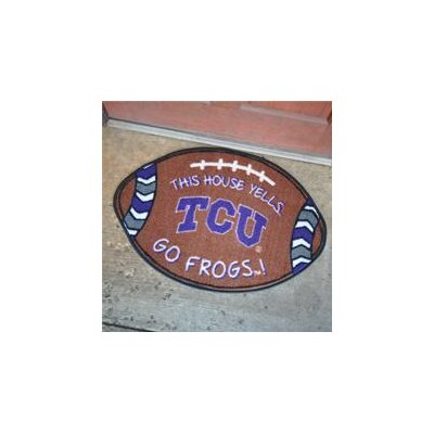 NCCA Football Indoor/Outdoor Doormat NCAA Team: TCU Horned Frogs