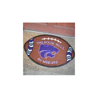 NCCA Football Indoor/Outdoor Doormat NCAA Team: Kansas State Wildcats