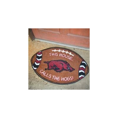 NCCA Football Indoor/Outdoor Doormat NCAA Team: University of Arkansas