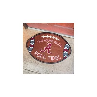 NCCA Football Indoor/Outdoor Doormat NCAA Team: Alabama Crimson Tide