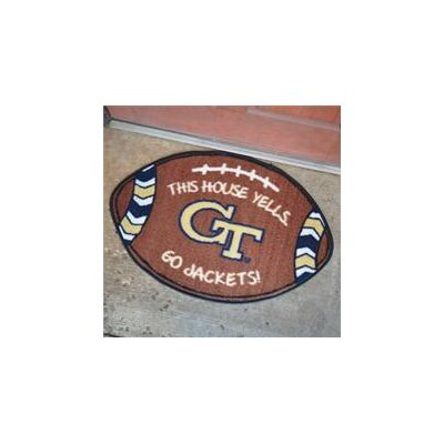 NCCA Football Indoor/Outdoor Doormat NCAA Team: Georgia Tech Yellow Jackets