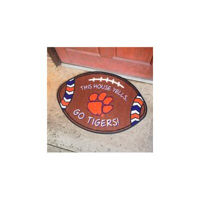 NCCA Football Indoor/Outdoor Doormat NCAA Team: Clemson Tigers