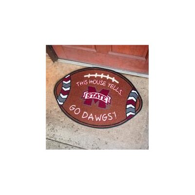 NCCA Football Indoor/Outdoor Doormat NCAA Team: Mississippi State Bulldogs