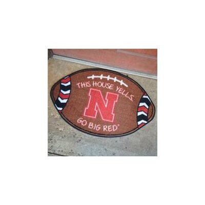 NCCA Football Indoor/Outdoor Doormat NCAA Team: Nebraska Corn Huskers