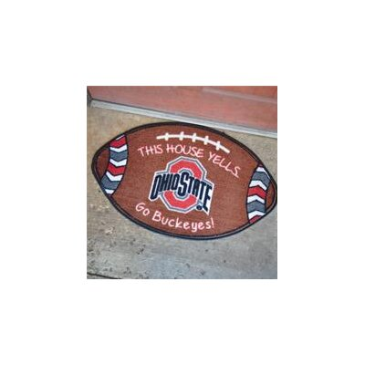 NCCA Football Indoor/Outdoor Doormat NCAA Team: Ohio State Buckeyes