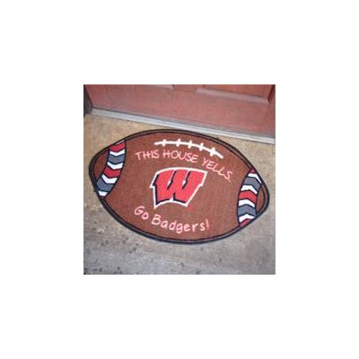 NCCA Football Indoor/Outdoor Doormat NCAA Team: Wisconsin Badgers
