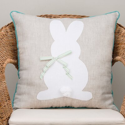 Bunny Silhouette Cotton Throw Pillow