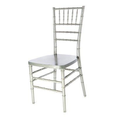 Max Series Resin Chiavari Side Chair Finish: Silver