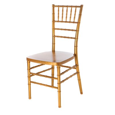 Max Series Resin Chiavari Side Chair Finish: Gold