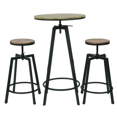 Max 3 Piece Bar Table Set