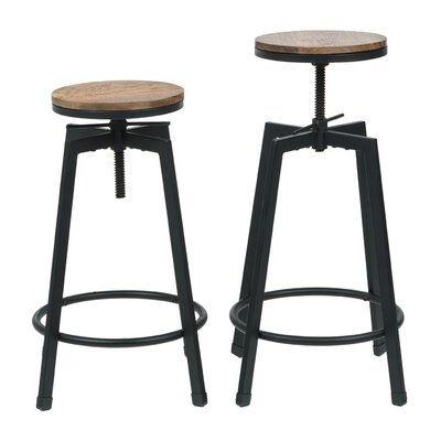 Adjustable Height Swivel Barstool