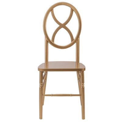 Veronique Series Wood Solid Wood Dining Chair Finish: Gold