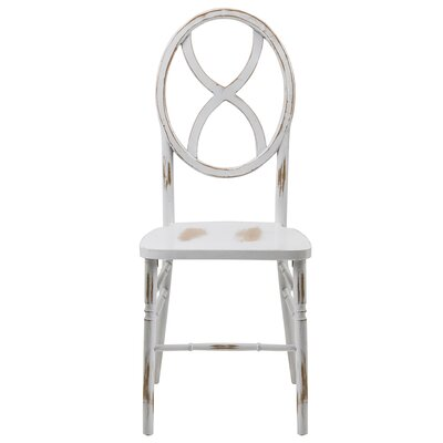 Veronique Series Wood Solid Wood Dining Chair Finish: Lime White