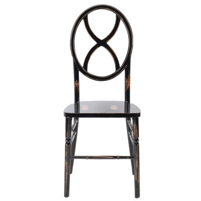 Veronique Series Wood Solid Wood Dining Chair Finish: Lime Black