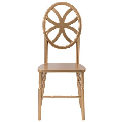 Veronique Series Clover Wood Side Chair Finish: Gold