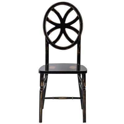 Gibb Clover Solid Wood Dining Chair Finish: Lime Black Wash