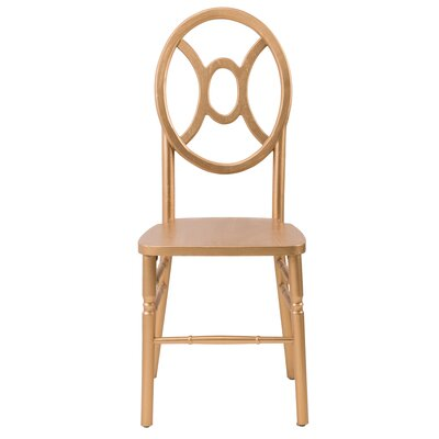 Veronique Series Twin Solid Wood Dining Chair Finish: Gold