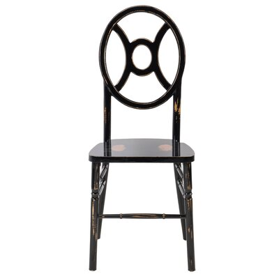 Gibb Twin Solid Wood Dining Chair Finish: Lime black wash