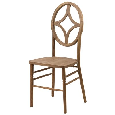 Veronique Series Diamond Solid Wood Dining Chair Finish: Tinted Raw