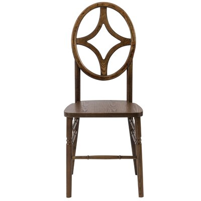 Gibb Diamond Solid Wood Dining Chair Finish: Dark Walnut