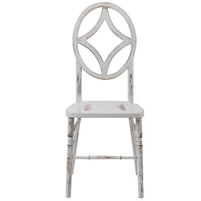 Gibb Diamond Solid Wood Dining Chair Finish: Lime white wash
