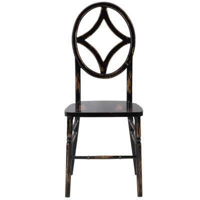 Veronique Series Diamond Wood Side Chair Finish: Lime black wash