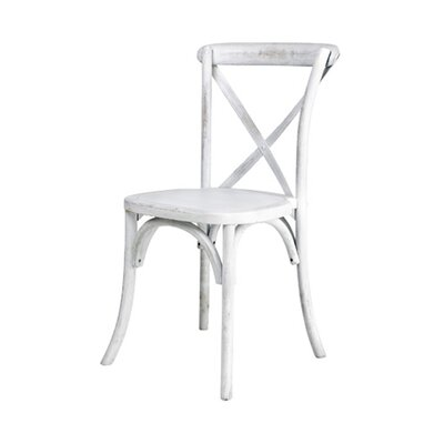 Sudie Solid Wood Dining Chair Finish: White Wash