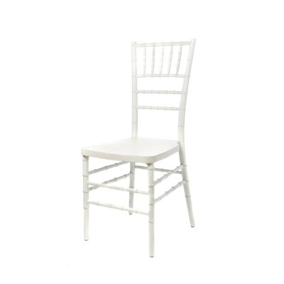 Max Series Resin Chiavari Side Chair Finish: White