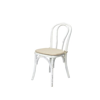 Bentwood Solid Wood Dining Chair Frame Finish: White Wash