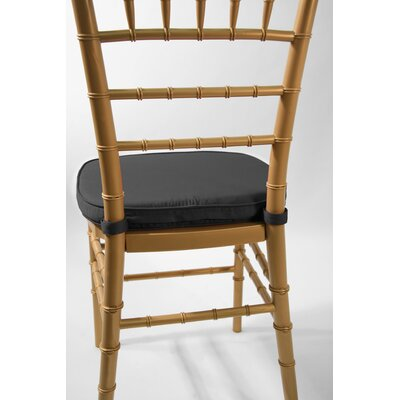 Low Price Commercial Seating Products Chiavari Double Tubing Cushion Upholstery: Black
