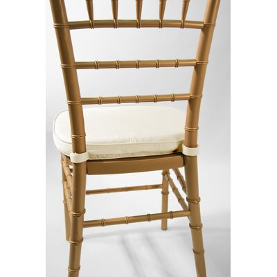 Low Price Commercial Seating Products Chiavari Double Tubing Cushion Upholstery: Ivory