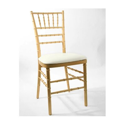 Low Price Commercial Seating Products Max Resin Chiavari Panel Cushion Upholstery: Ivory