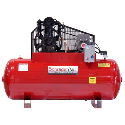 Schrader Professional Series Two Stage 5HP 80 Gallon Horizontal Air Compressor - Voltage: 460V at Sears.com
