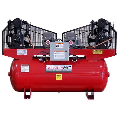 Schrader  Duplex Professional Series Two Stage 5HP 120 Gallon Single